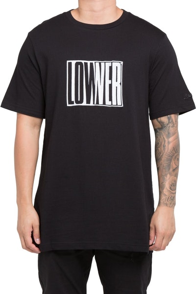 Lower QRS Cube Baby Tee Black