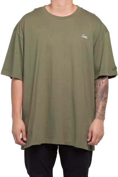 Lower Popo Embroidered Potato Tee Camo/Army