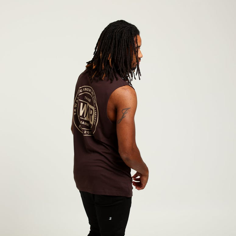 Lower Cut Tank League Brown/Beige