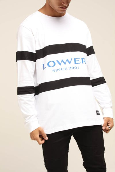 Lower Executive Panel LS Tee White/Black/White