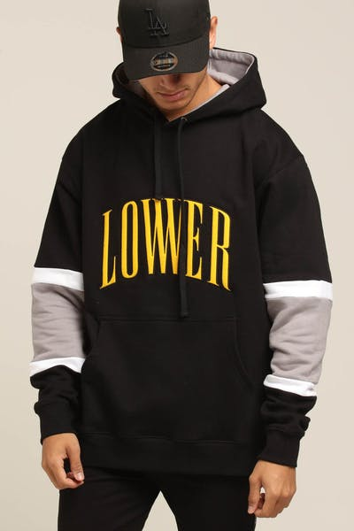 Lower Harvard Enforcer Hood Black/White/Grey