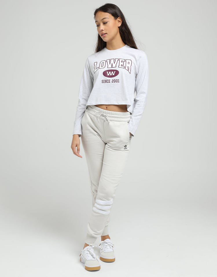 Lower Women's Cropped LS Semester Tee Silver Marle