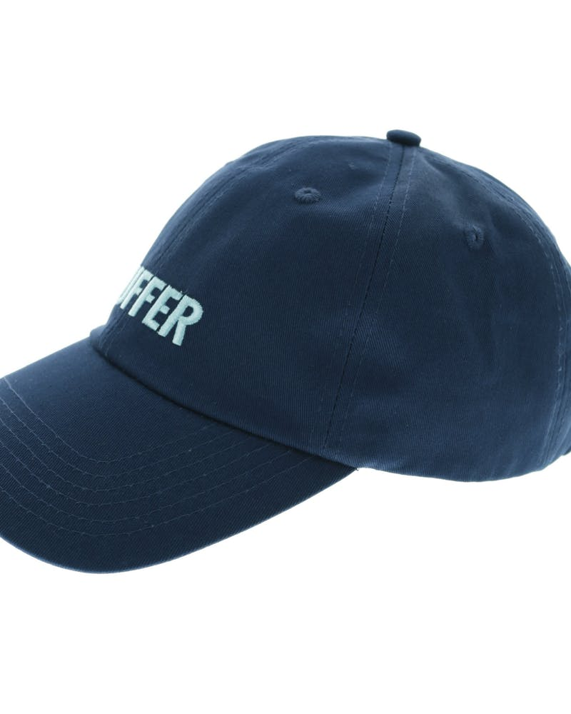 Huffer Bust A Cap Stacked Italic Emblem Strapback Navy