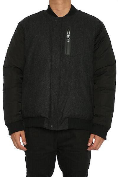 Huffer Street Down Bomber Jacket Black