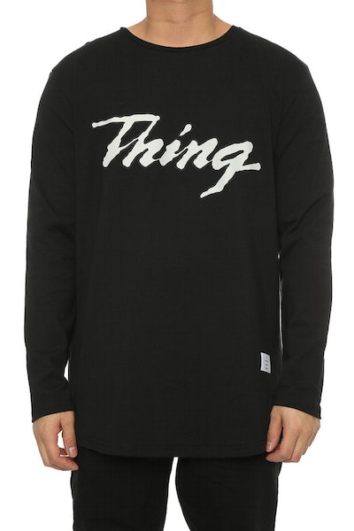 Thing Thing Solid L/S Outline Sport Tee Black