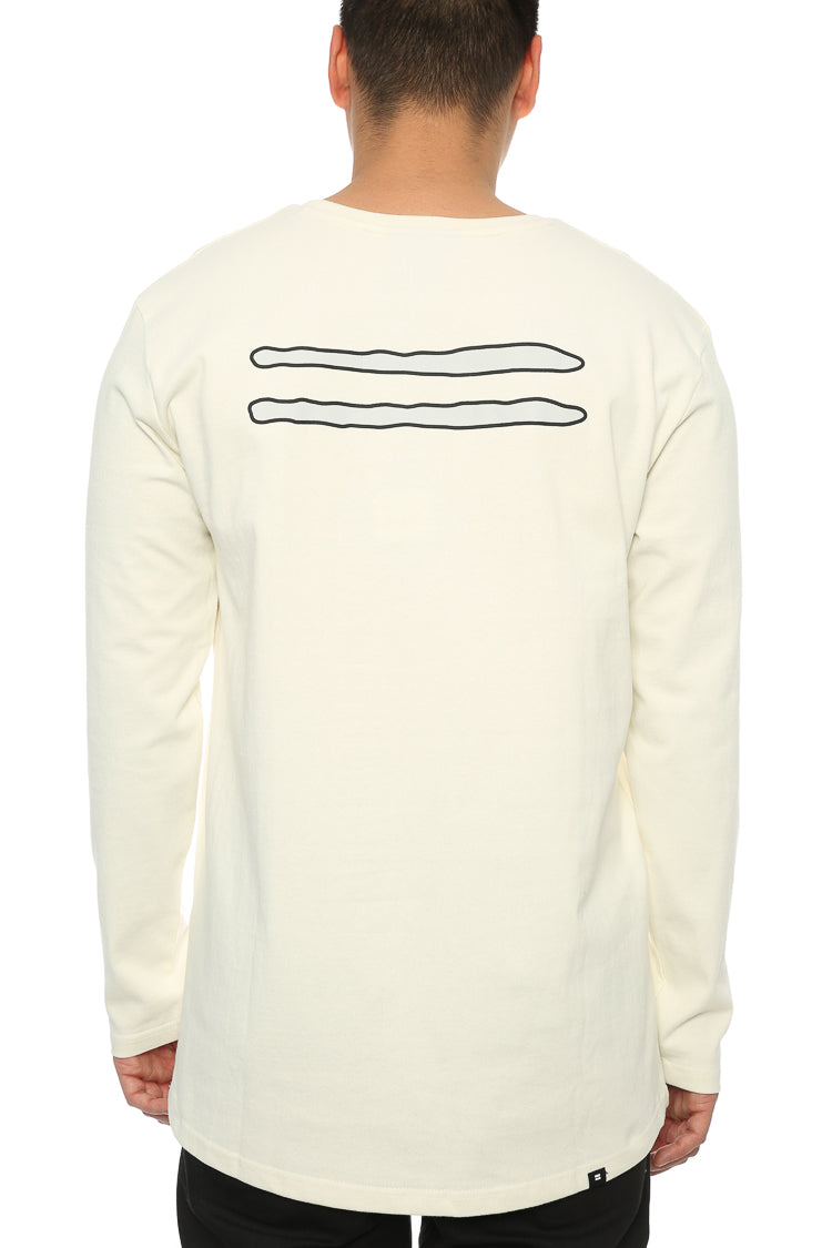 Thing Thing Solid LS Outline Sport Tee White