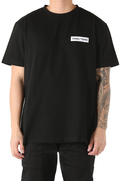 Thing Thing Box Tee Black