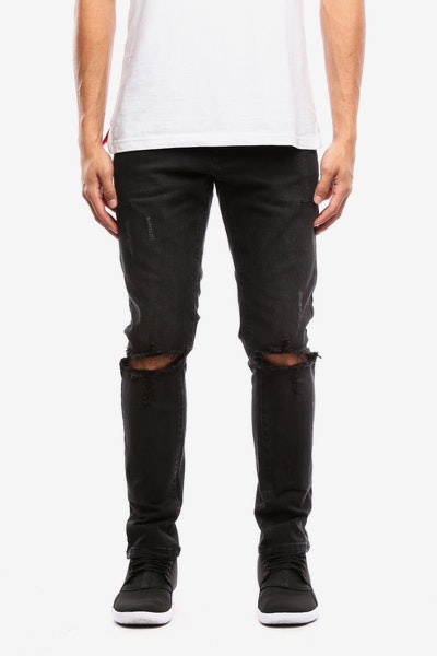 Thing Thing Alt Knee Ripped Jeans Black