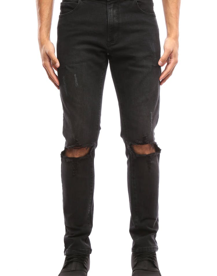 19ce65eb Thing Thing Alt Knee Ripped Jeans Black – Culture Kings