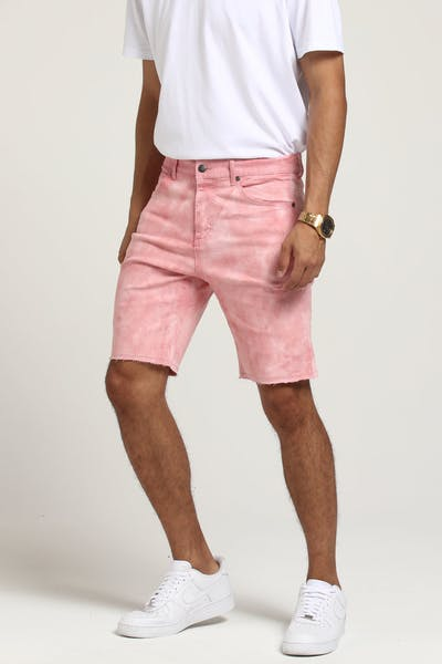 Thing Thing Halt Denim Short Salmon Tie Dye