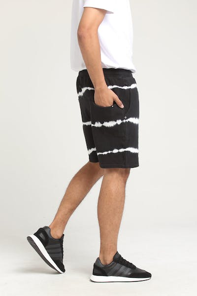 THING THING RONIN JERSEY SHORT Black Tie-Dye