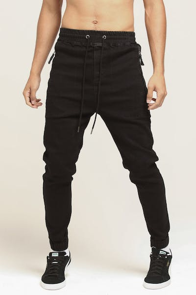 Thing Thing Cuffed Front Jean Black Wash