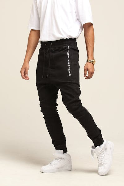 Thing Thing Zipped Para Jean Black Wash