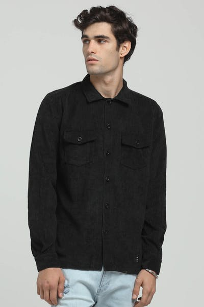 Thing Thing Cord Shirt Black Cord