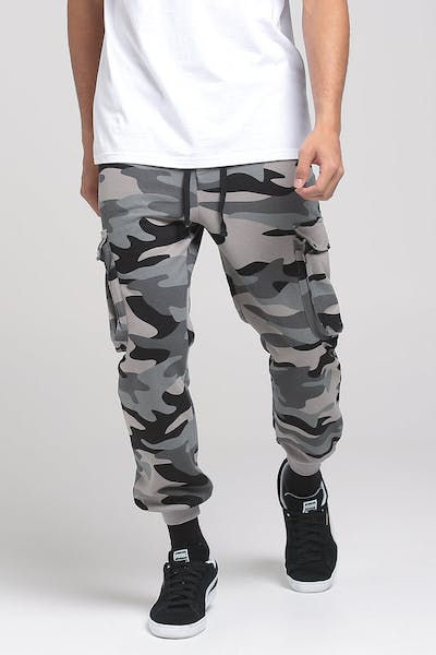 THING THING SET CARGO TRACKIE PANT GREY CAMO