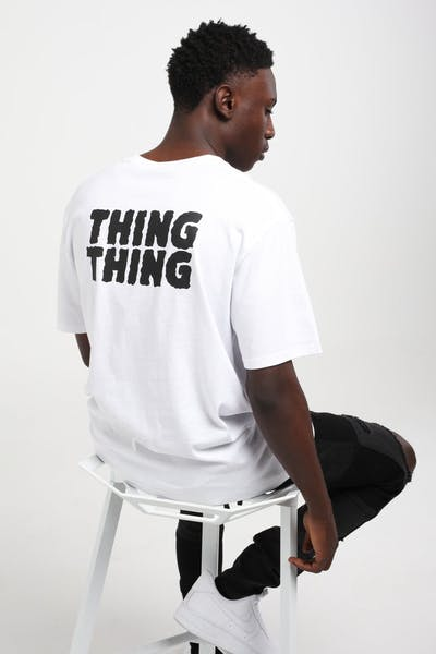 Thing Thing Mid Tee Stack Print White