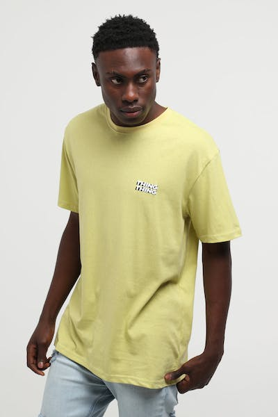 Thing Thing Mid Tee - Boxed Print Yellow