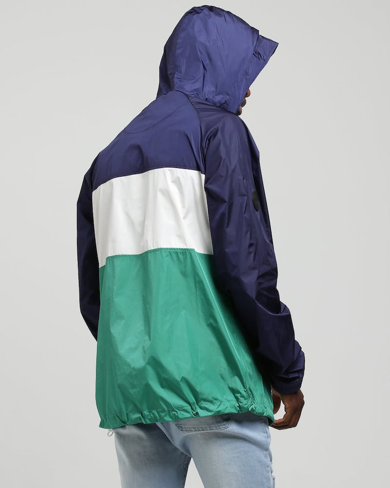 Huffer Spray Anorak Navy/Green