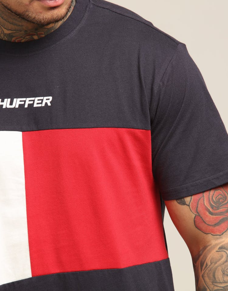8b0346f22d7f Huffer Flag Tee/Huffer Navy/Red – Culture Kings