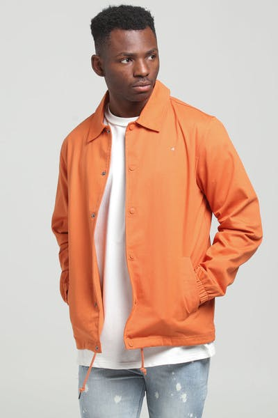 Huffer Coaches Jacket Orange