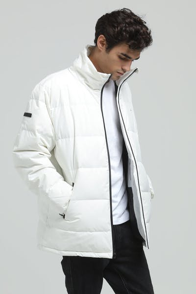 Huffer Track Down Jacket White