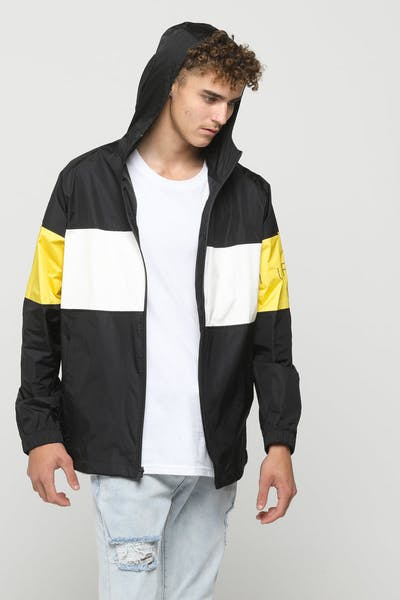 Huffer Track Shell Jacket Black/Yellow