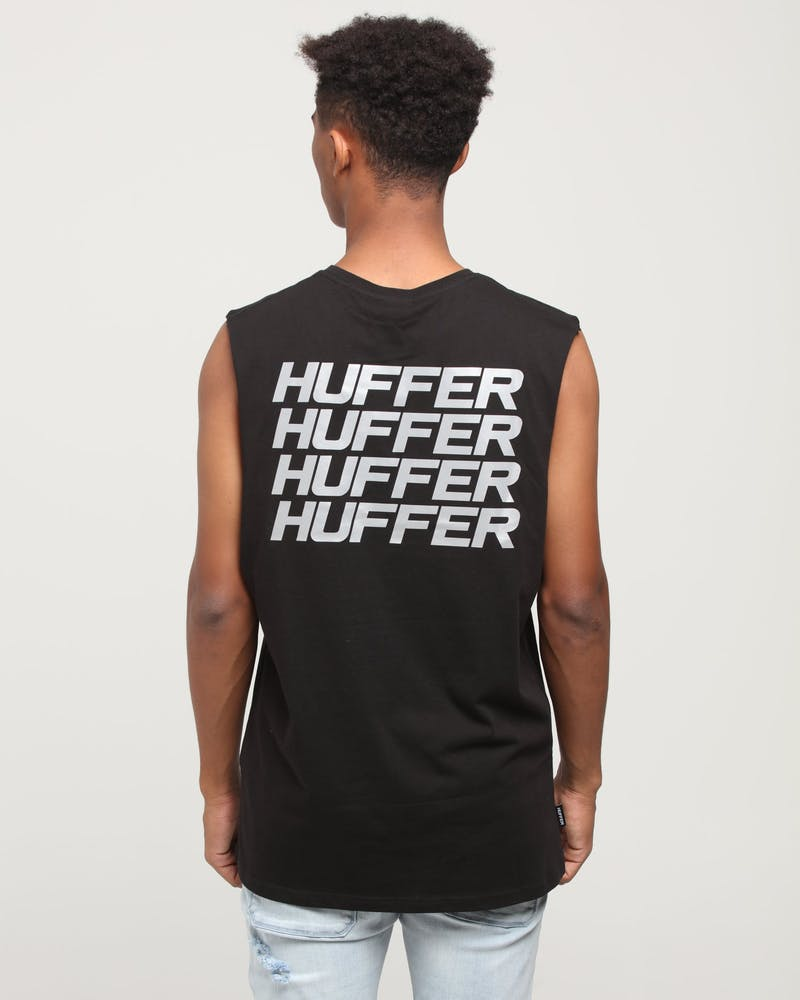 Huffer Stacked Up Muscle Black