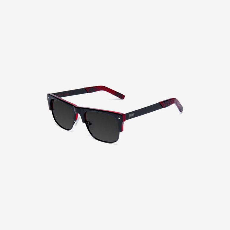 Watson2 Snake Sunglasses Black/red