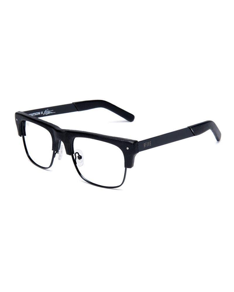 Watson 2 Glasses Leather Black/clear