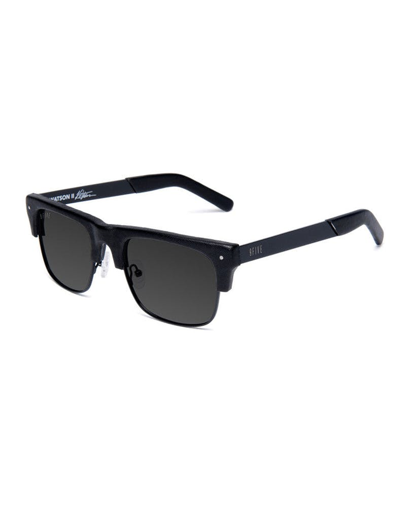 Watson 2 Glasses Leather Black/black