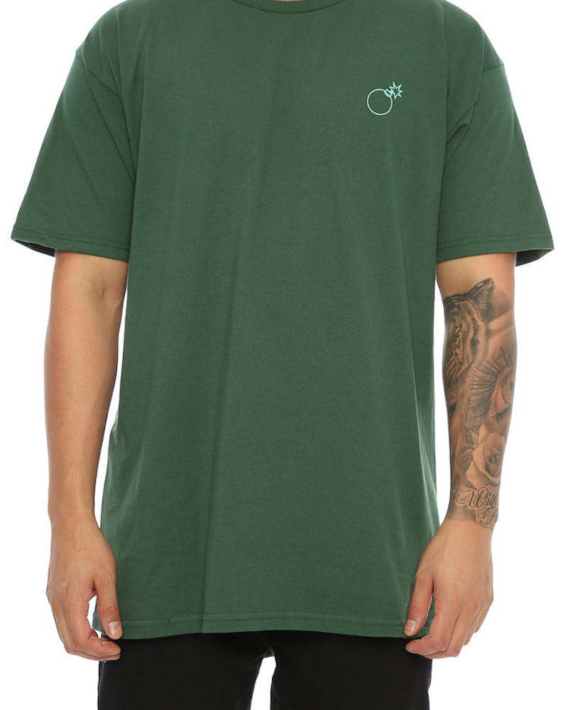 The Hundreds Slant Box Tee Forest Green