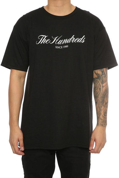 The Hundreds Rich 80 Tee Black