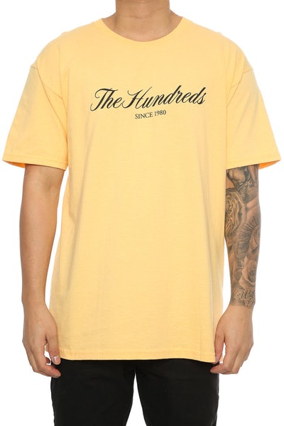 The Hundreds Rich 80 Tee Yellow