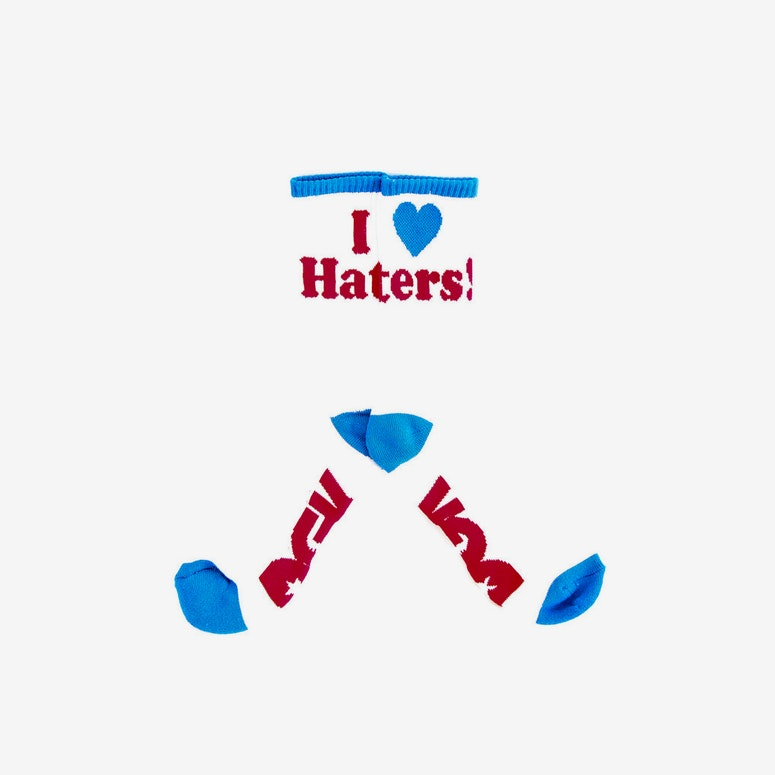Haters Sock White