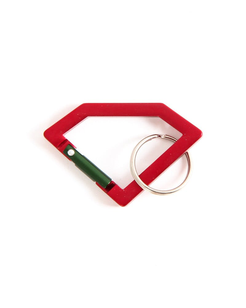Keychain Carabiner Red