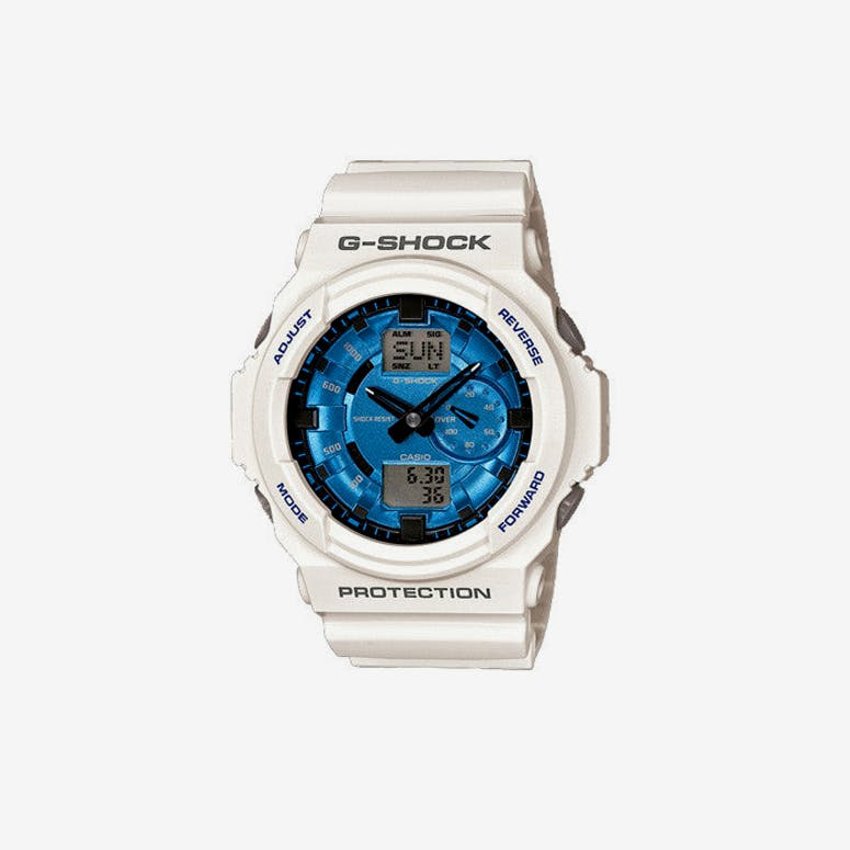 Casio Gshock Big Face Duo White/blue