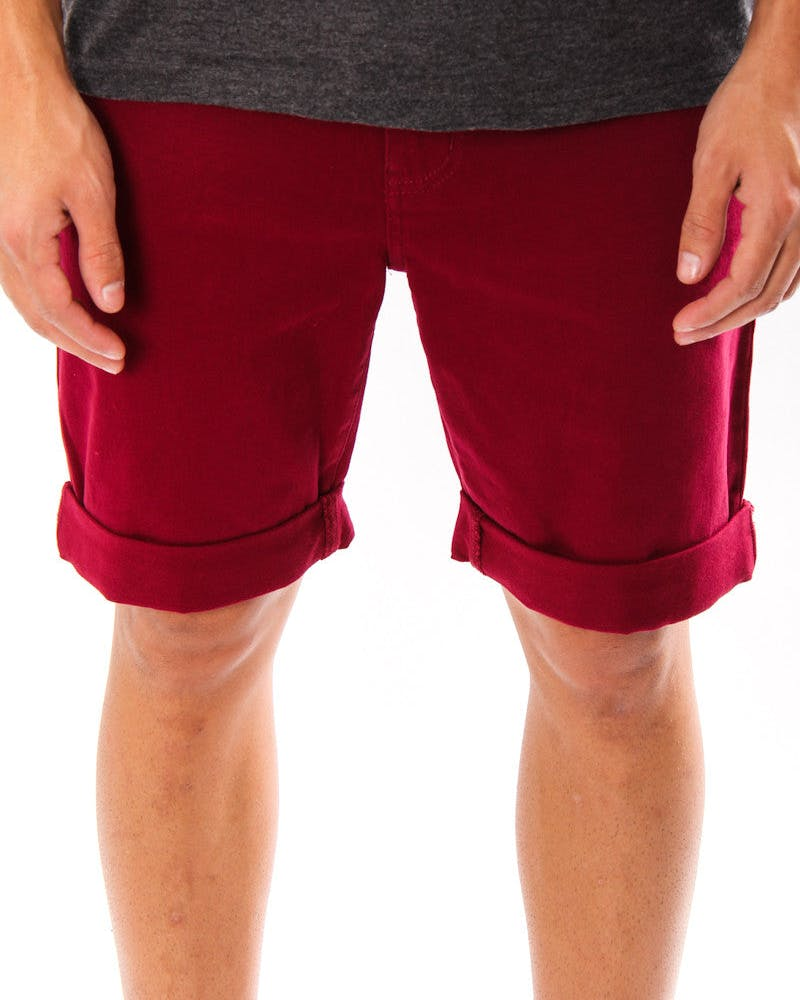 Leaner Shorts Maroon