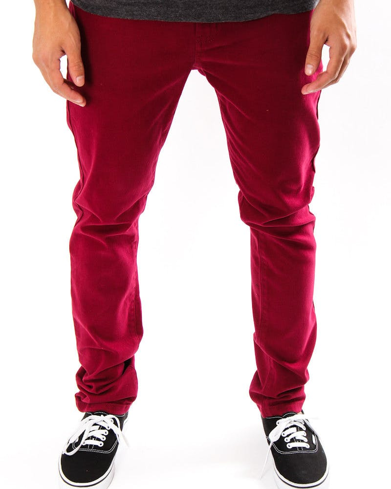 Leaner Jeans Maroon