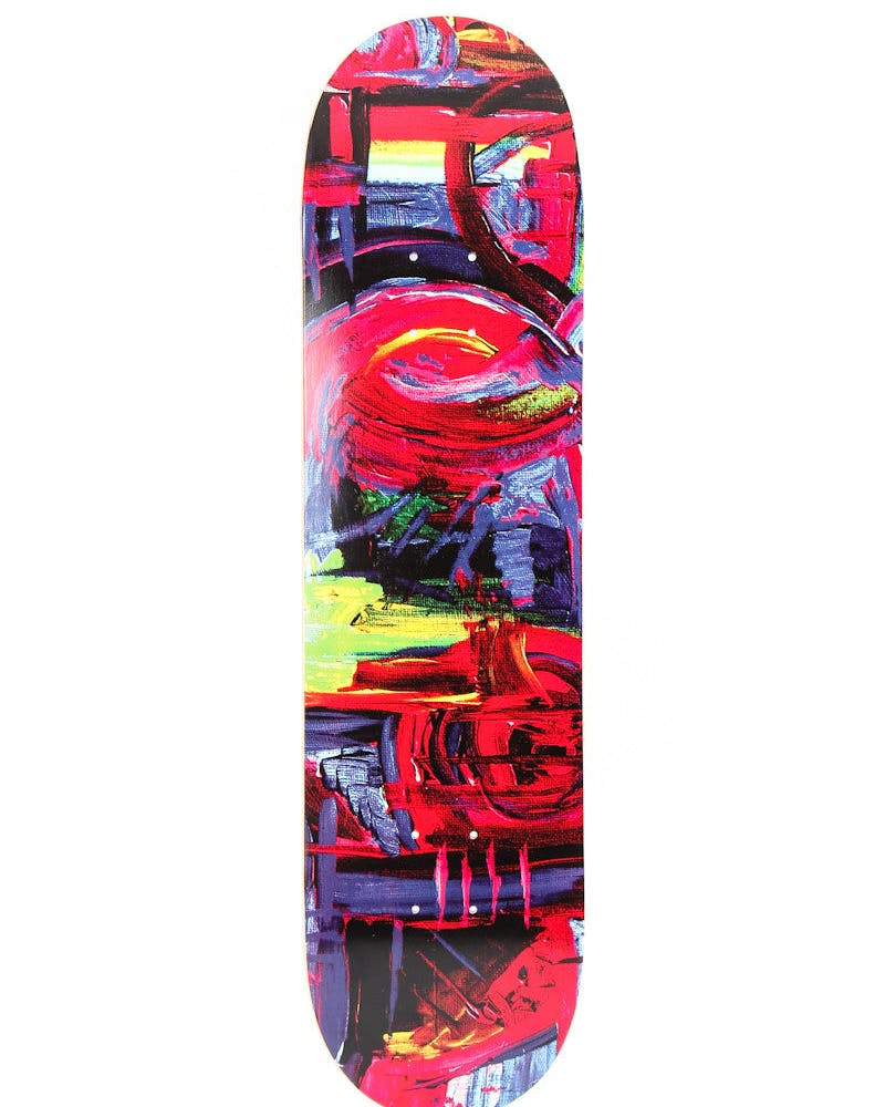 Brushstroke Skate Deck Multi-coloured