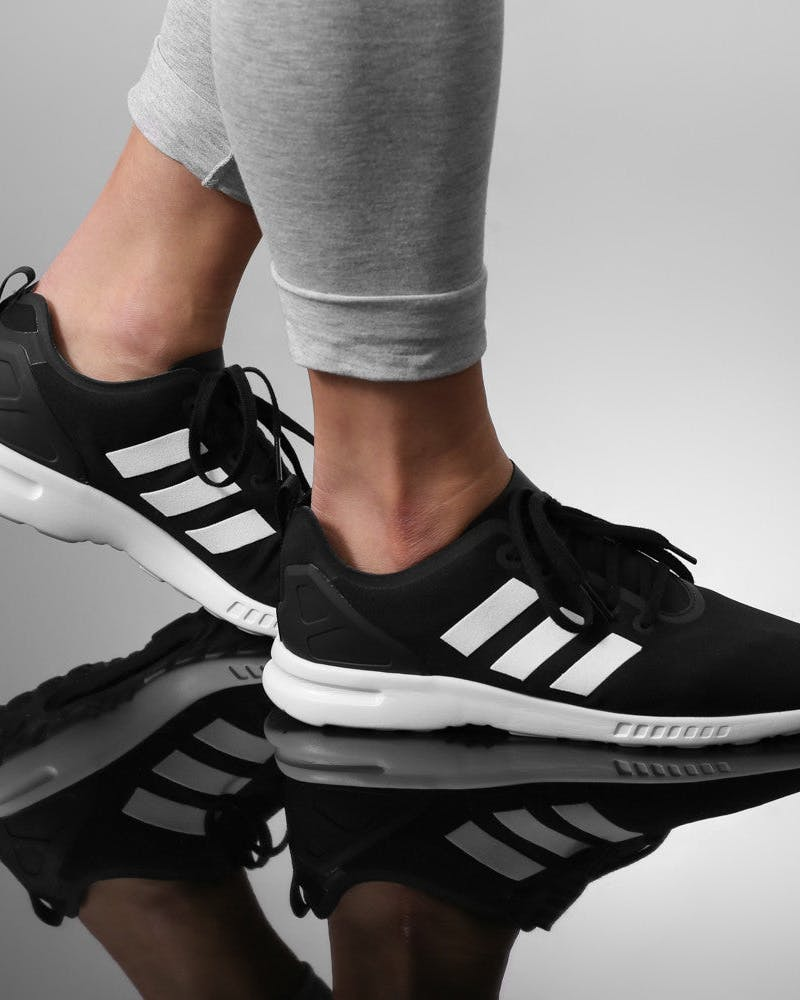 Womens ZX Flux Smooth Black/white