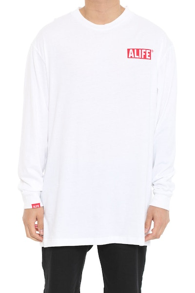 the Alife Inc Long Sleeve Tee White