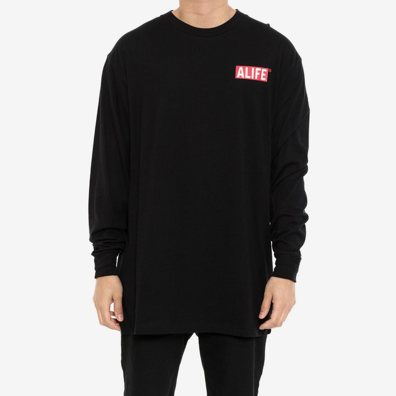 the Alife Inc Long Sleeve Tee Black