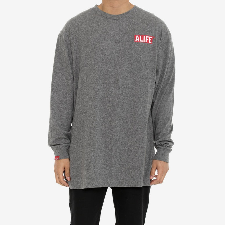 the Alife Inc Long Sleeve Tee Grey