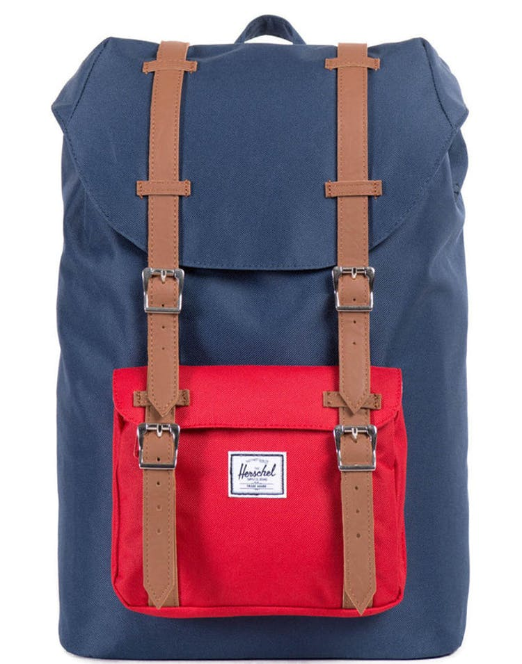 Little America Mid Volume Navy/red