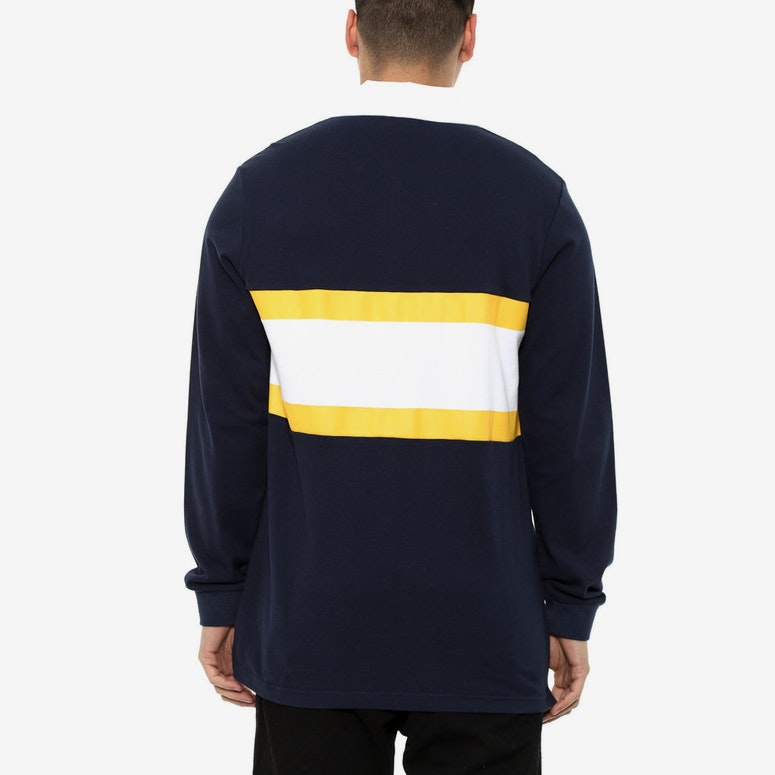 Polo Long Sleeve Tee Navy/yellow