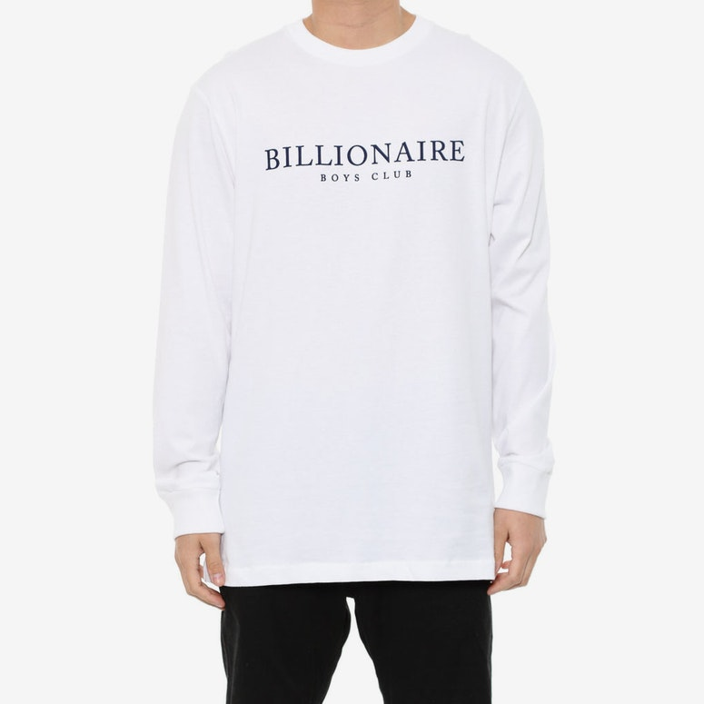 Monaco Flock Long Sleeve Tee White/navy