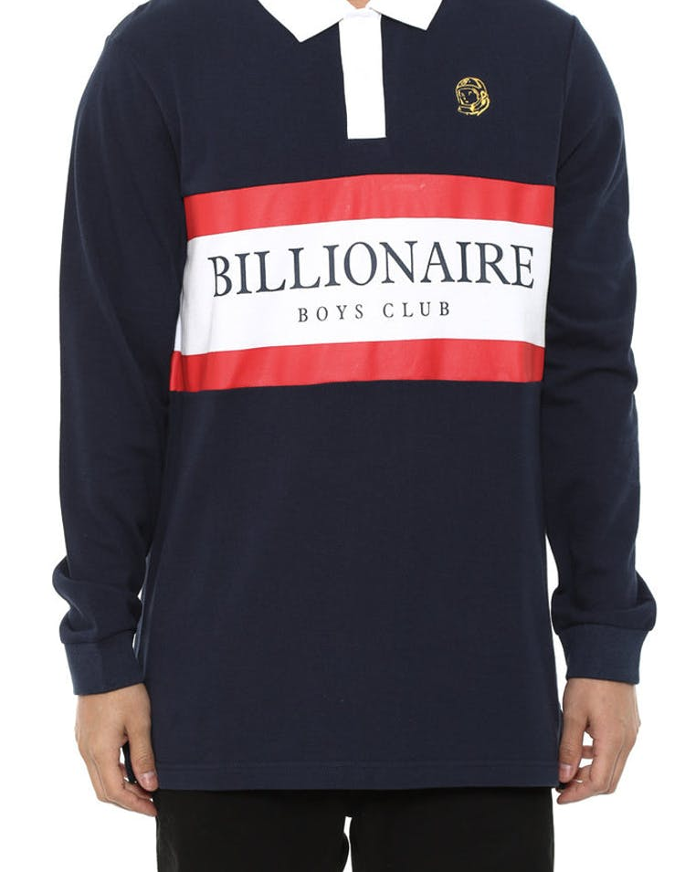 Polo Long Sleeve Tee Nav/r