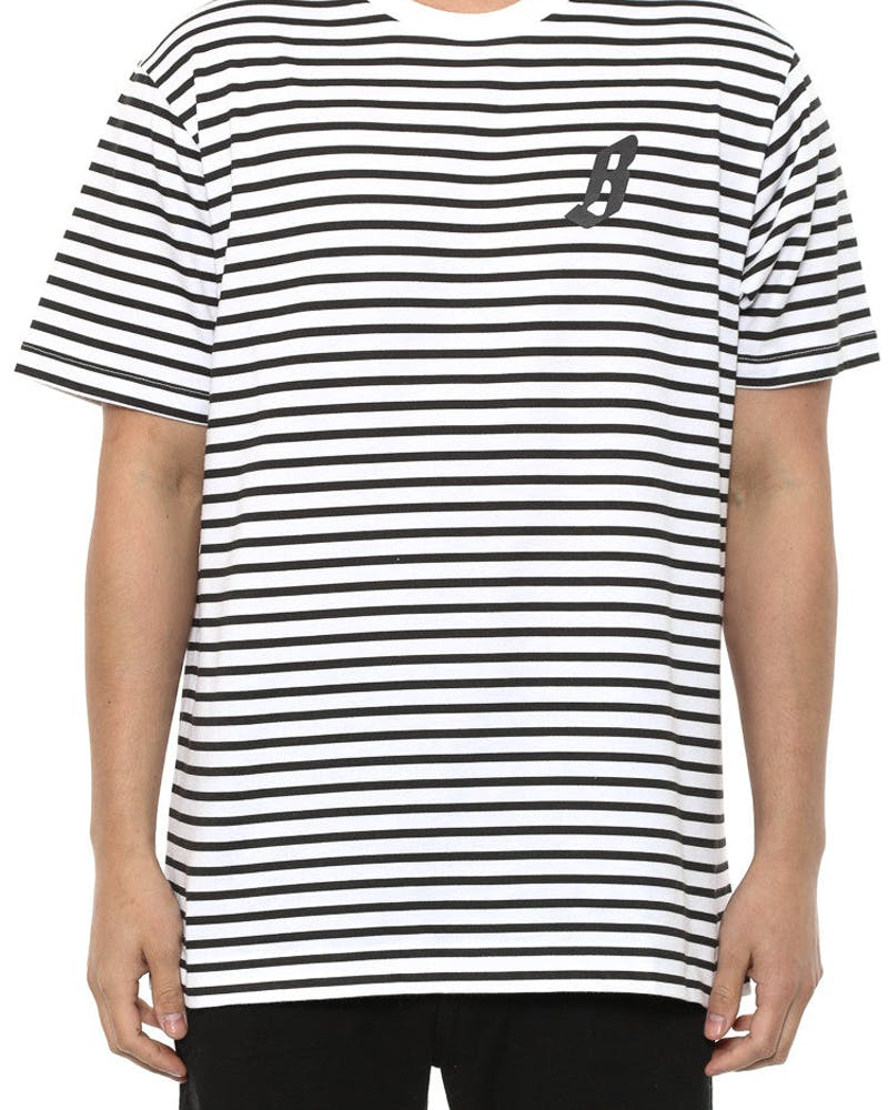 B Stripe Tee Black/white