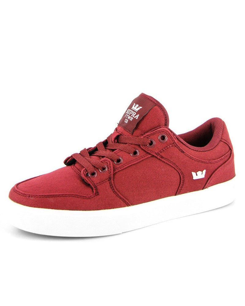 Supra Vaider Low Burgundy/white