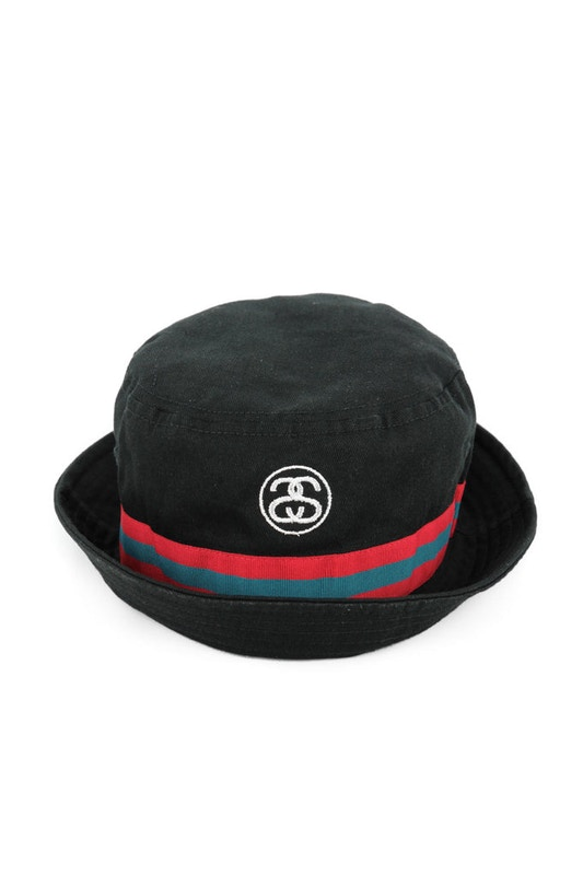 0994f29179e Standard fit bucket hat featuring SS Link embroidery with color contrasting  band - Crafted from 100% premium cotton - Offered in black or white
